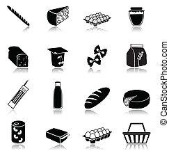 iconos del alimento, conjunto