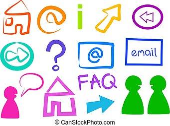 iconos del internet