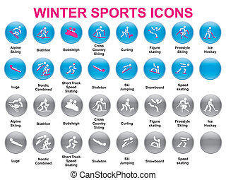 iconos, deportes del invierno