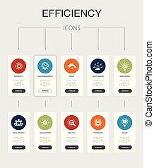 iconos, eficiencia, dirección, trabajo en equipo, velocidad,...