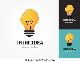 iconos, luz, -, creativo, idea, bombilla, tecnología