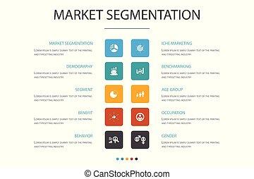 iconos, nube, segmento, segmentation, edad, template., ...