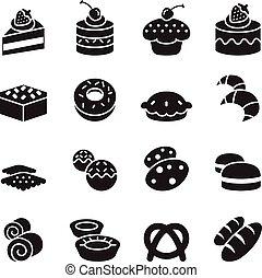 iconos, panadería