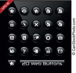 iconos, para, tela, y, software, promotores