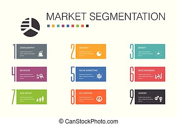 iconos, segmento, segmentation, benchmarking, edad, concept...