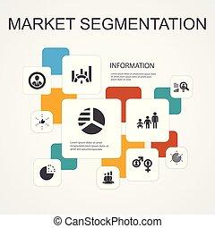 iconos, segmento, segmentation, benchmarking, edad, template...