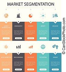 iconos, segmento, ui, segmentation, pasos, benchmarking, 10...