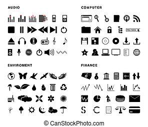iconos, vector