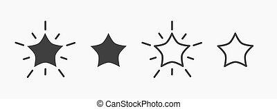 icons., étoiles, ensemble
