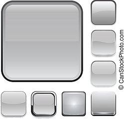 icons., 広場, app, 灰色