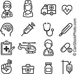 icons., 薬, 健康
