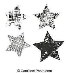 icons., 세트, 벡터, stars., 다른, patterns., 은 주연시킨다