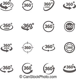 Icons 360 Degree View - Simple Set of 360 Degree View...