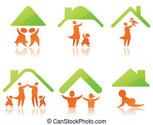 Icons a family2 - Set of icons on a family theme. A vector...