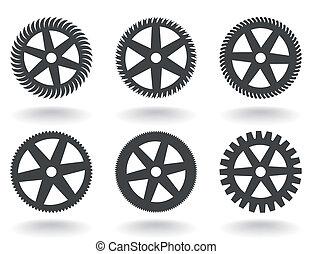 Icons a gear wheel
