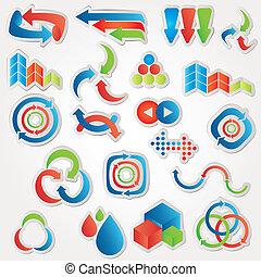 Icons arrows set