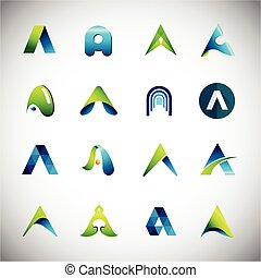 Icons based on the letter A