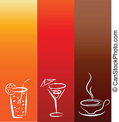 icons;, bebida, desenho, modelo