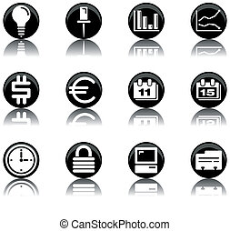 icons - business set 2 - a set of business/office themed...