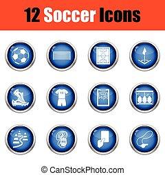 icons., calcio, set