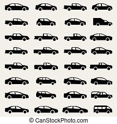 icons car vector set