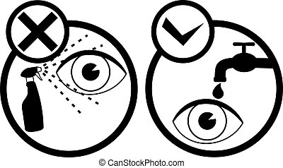 Icons care eyes
