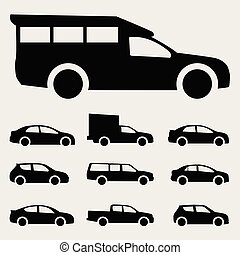 icons cars vector