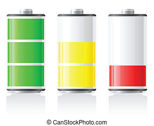 icons charge battery vector illustration