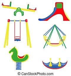 icons children teeter vector illustration isolated on white...
