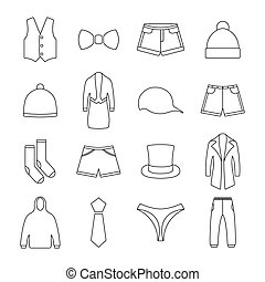 Icons clothes, vector