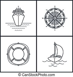 Set of maritime icons
