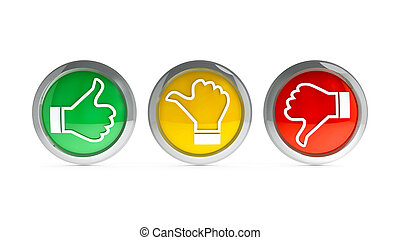 Icons customer satisfaction #2 - Positive, neutral and...