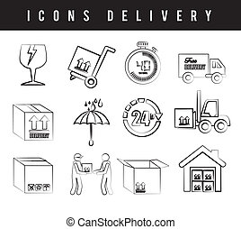 icons delivery