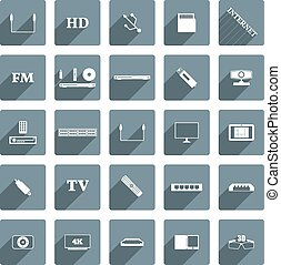 Icons digital devices, vector