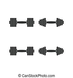 Icons dumbbells, vector illustration.