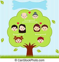 icons:, famille, vecteur, arbre