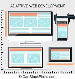Icons for adaptive web development