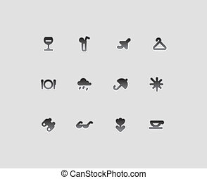 Icons for entertainment, travel and leisure. Vector ...