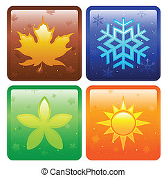 Icons for four seasons