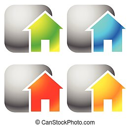 Icon(s) for house, apartment, rent, home, homepage, housing concepts.