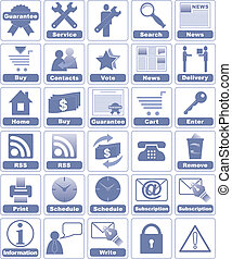 Icons for Internet and Website. - All icons organized in...