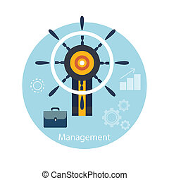 Icons for management concept