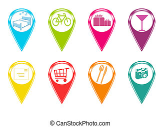 Icons for markers on maps