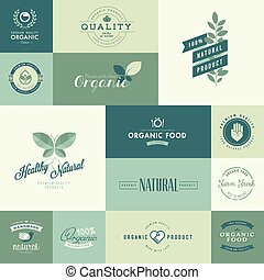 Icons for natural organic products