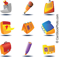 Icons for papers and notes