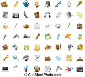 Icons for personal belongings - Personal belongings: 56 ...