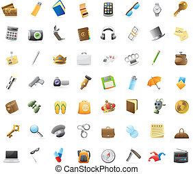 Icons for personal belongings - Personal belongings: 56...