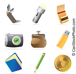 Icons for personal belongings