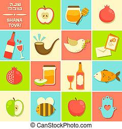 icons for Rosh Hashanah - symbols of Rosh Hashanah (Jewish ...