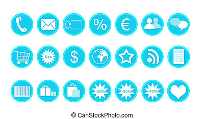 Icons for shop and buy